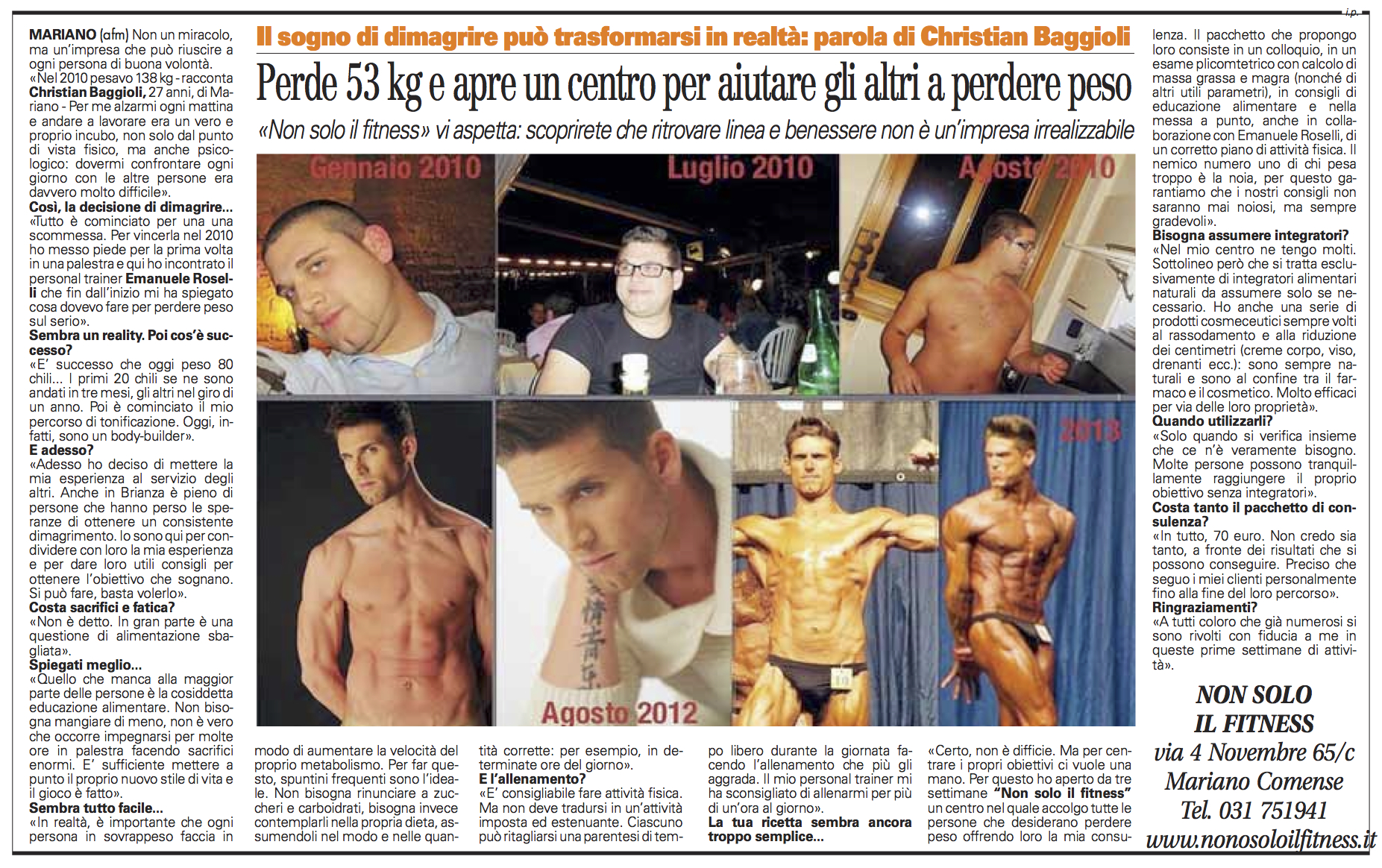 Non Solo il Fitness | Corriere di Carate